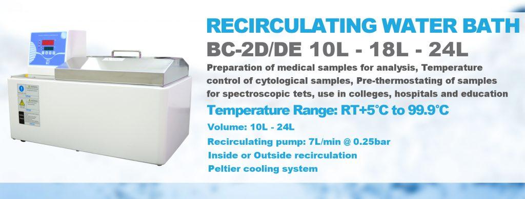 Bains à recirculation BC-2D/DE